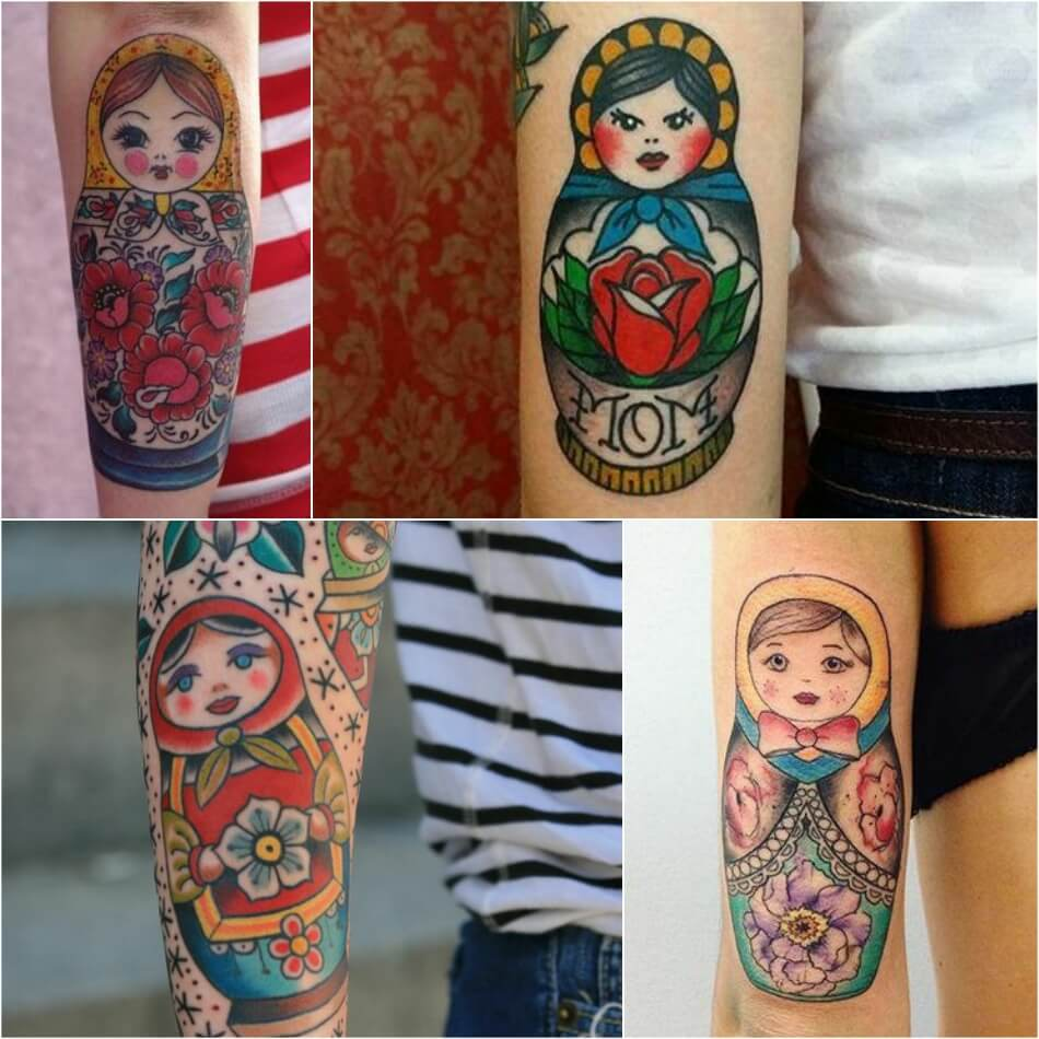 Тату Матрешка - Идеи и Значение Татуировки с Матрешкой - Татуировка Матрешка