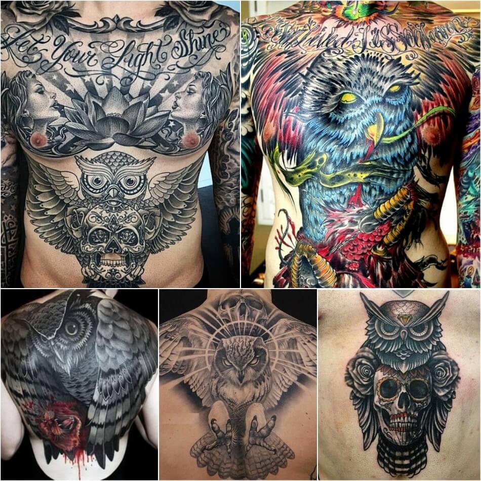 Тату Сова - Тату Сова для Мужчин - Мужские Татуировки с Совой