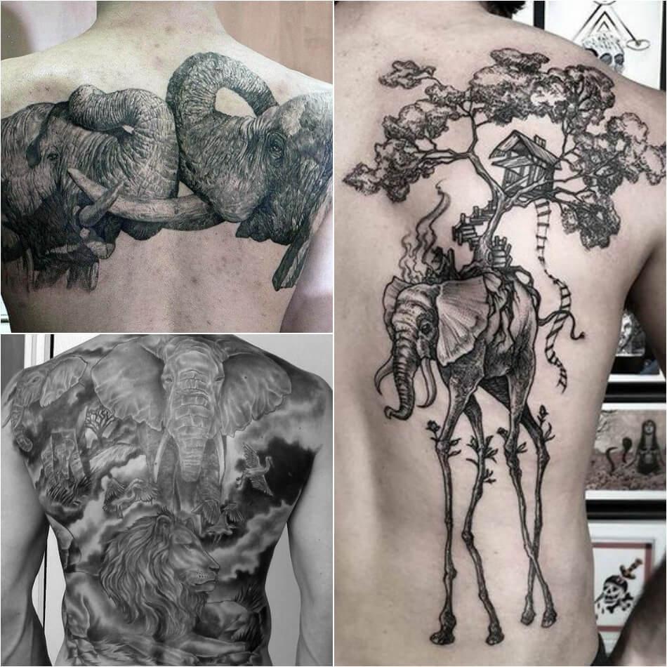 Мужские татуировки слон - Примеры и Эскизы - Тату слон для мужчин
