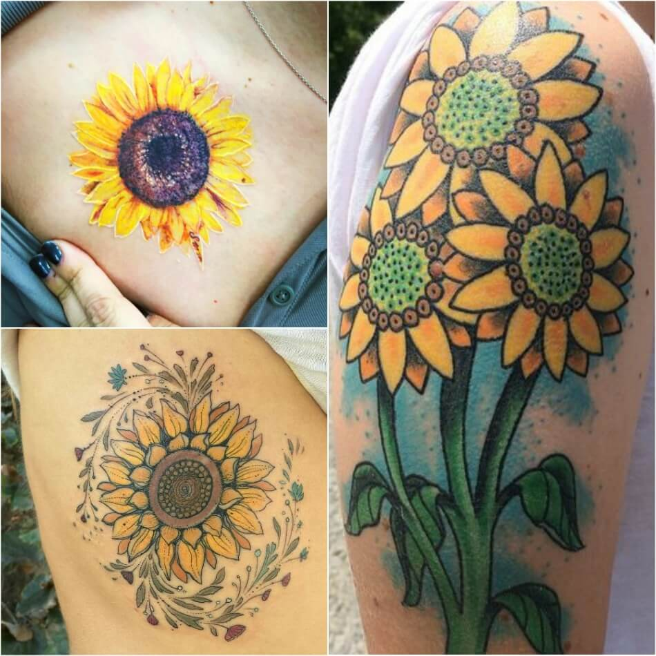 sunflower tattoo ideas - 950×950
