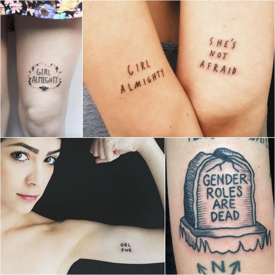 Тату для Феминисток - GIRL POWER TATTOO