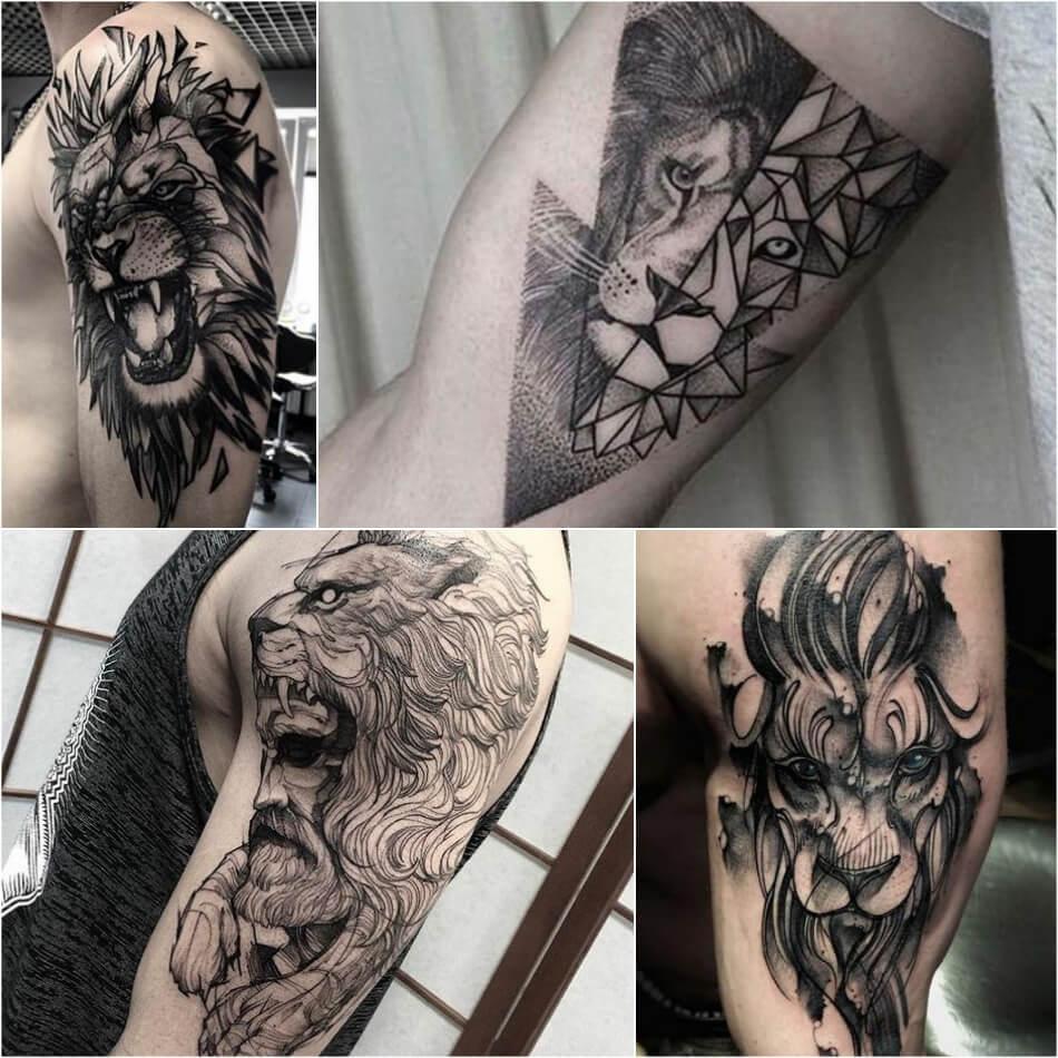 Тату лев - Тату Лев для Мужчин - Мужские Татуировки со Львом