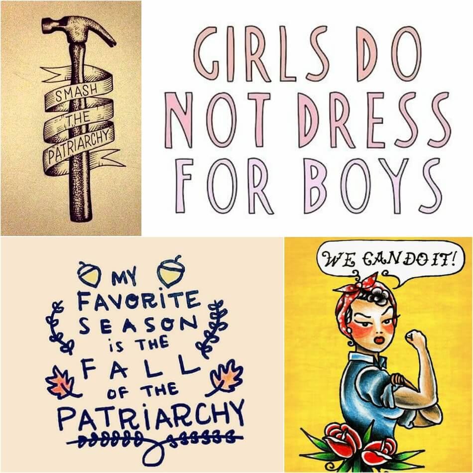 Тату для Феминисток - Эскизы Тату