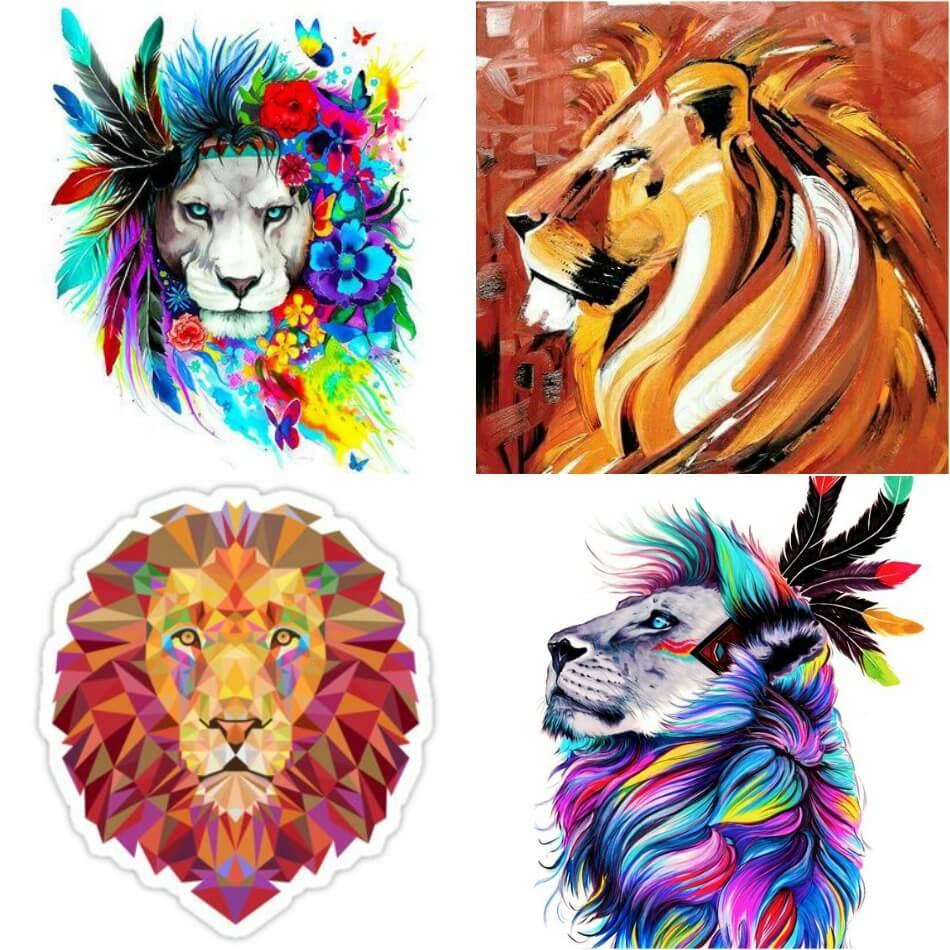 Тату лев - Тату Льва Эскизы - Примеры Эскизов для Татуировки Лев