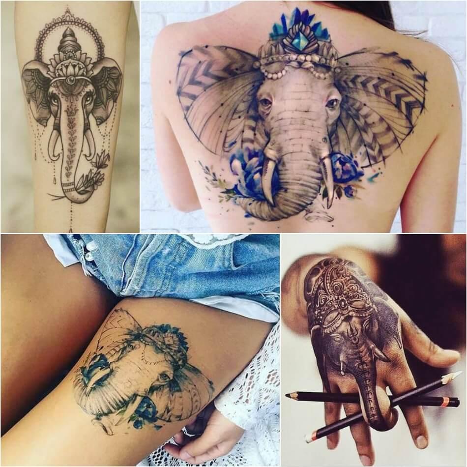Тату Слон - История и Символика Татуировки Слон