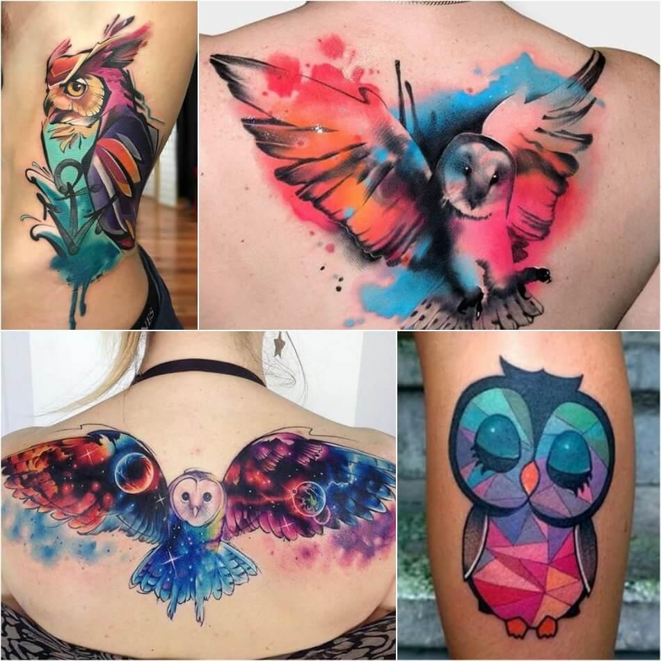 Тату Сова - Значение и Эскизы Татуировки с Совой - Тату сова значение