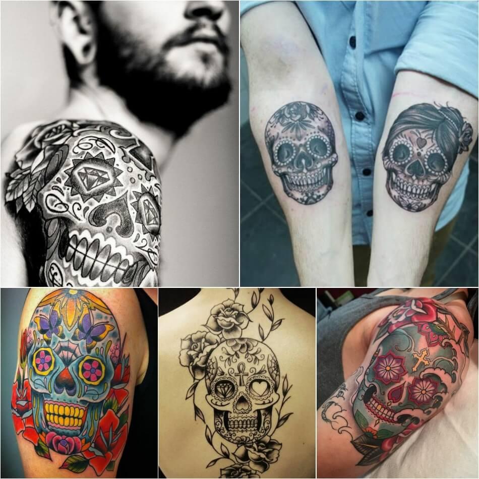 Тату череп - Мексиканские тату с черепом - Тату череп Мексика