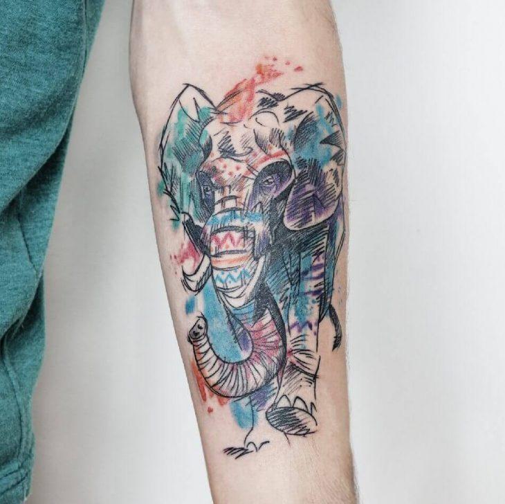 Тату Слон - Значение Тату Слона - Татуировка Слон