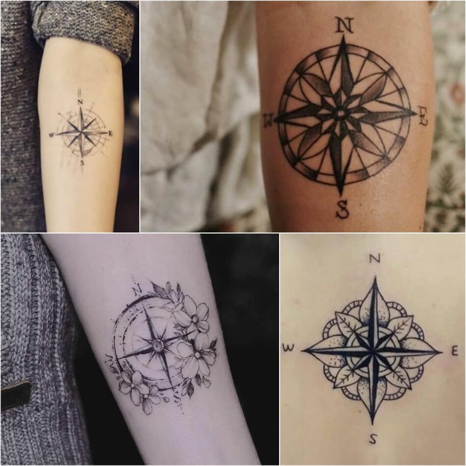 Тату компас - Тату Роза Ветров - Татуировка роза ветров