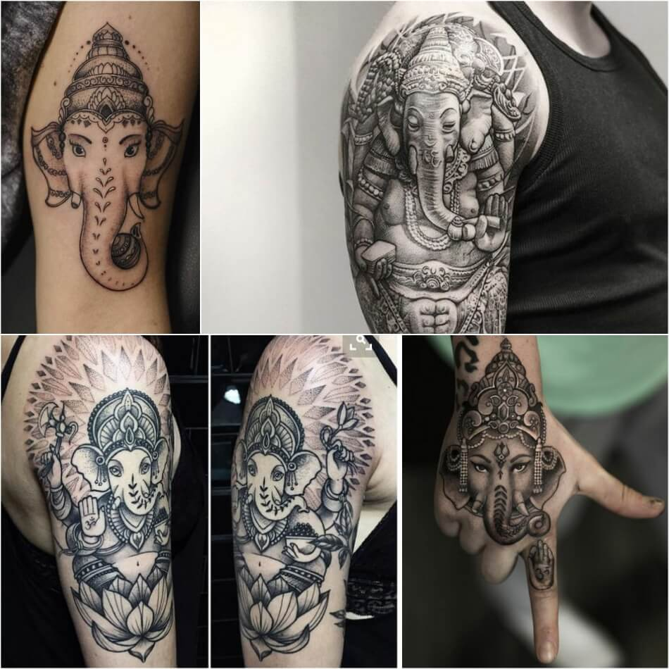 Тату Слон - Татуировка Ганеша - Ганеша тату