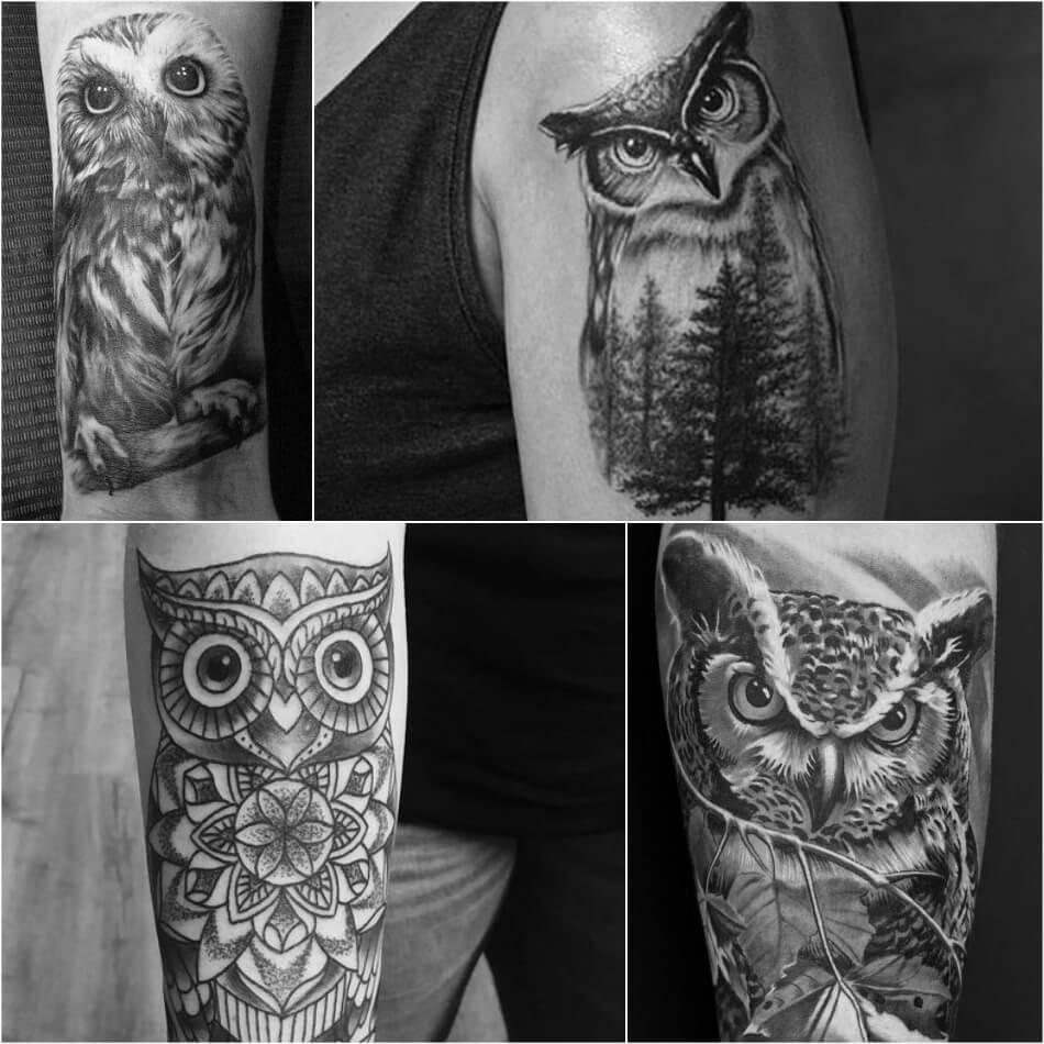 Тату Сова  -  Значение  и Эскизы Татуировки с Совой