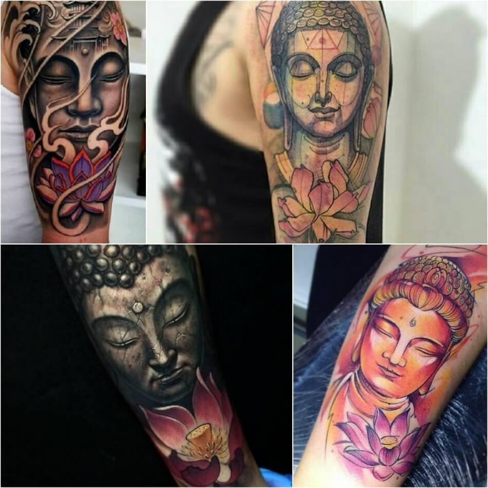 Тату Лотос - Тату Лотос и Будда - Татуировка Лотос и Будда
