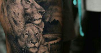 Тату Лев - Значение, Идеи и Фото Татуировки со Львом