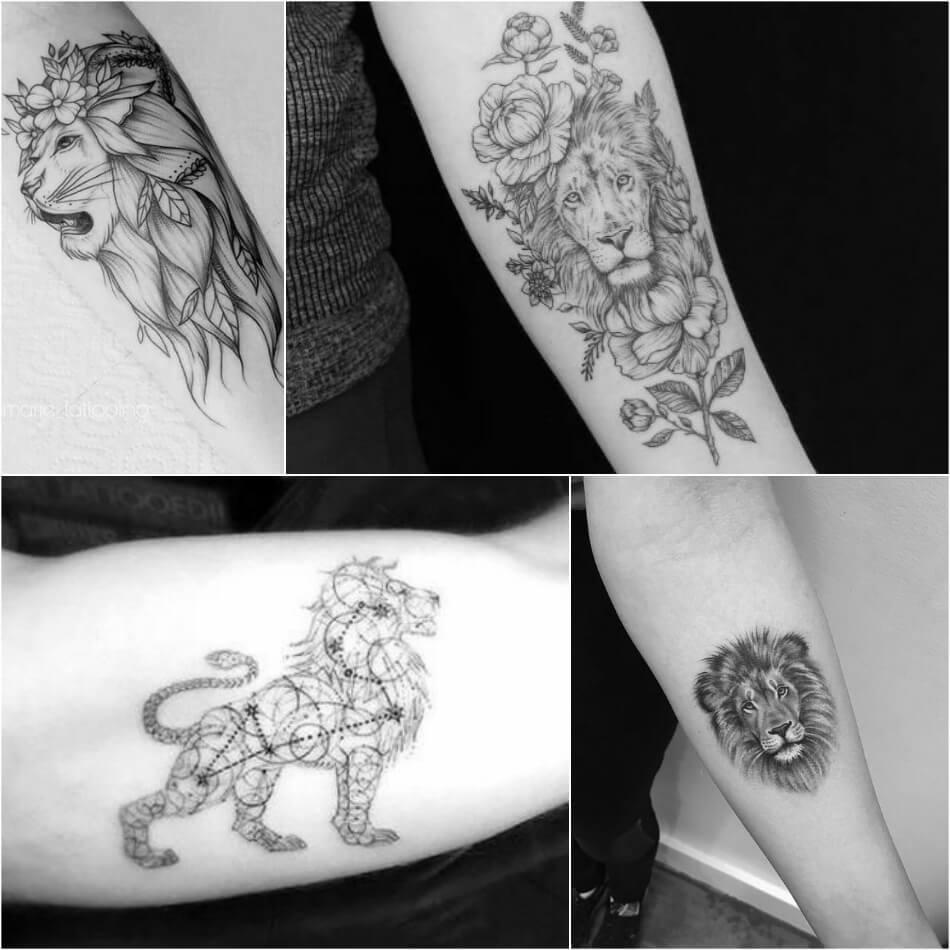 Тату Лев - Тату Лев на Руке - Тату лев рукав