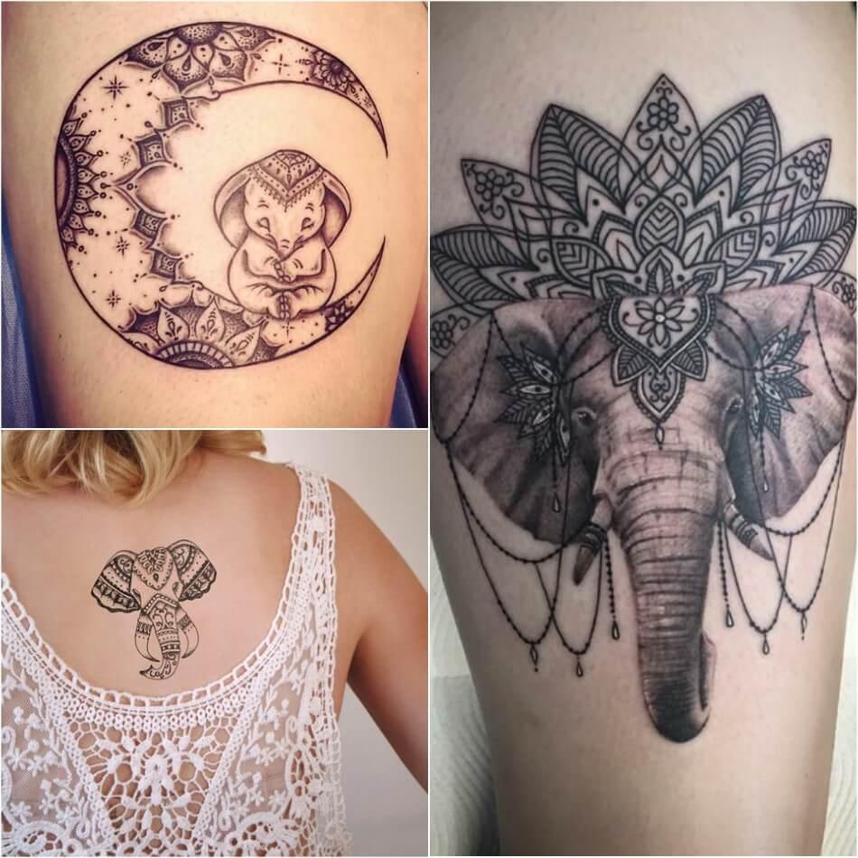 Тату Слон - Тату Слон мандала - Татуировка мандала слон