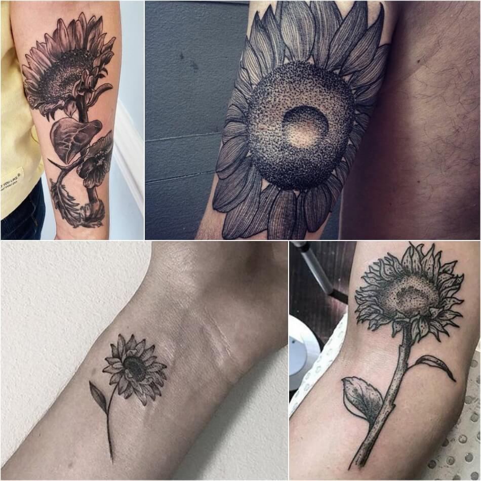 Тату Подсолнух - Тату Подсолнух для Мужчин - Мужские Татуировки с Подсолнухом