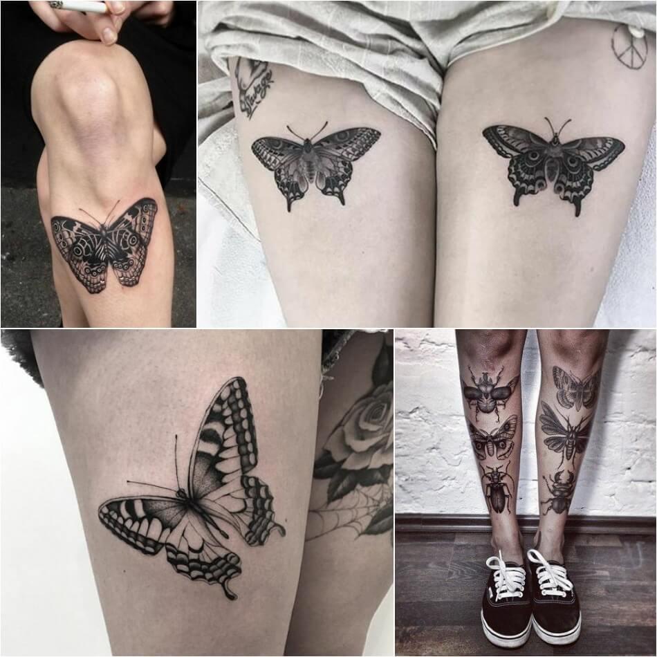 Тату бабочка - Женские тату с бабочкой - Татуировка бабочка женская