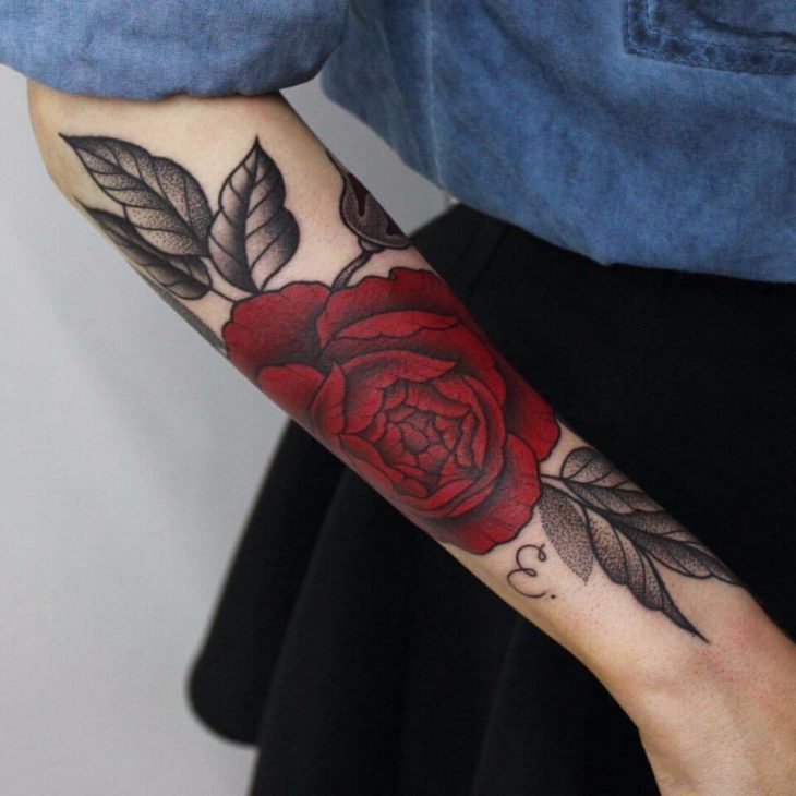 Тату роза - Татуировка роза - Роза тату значение