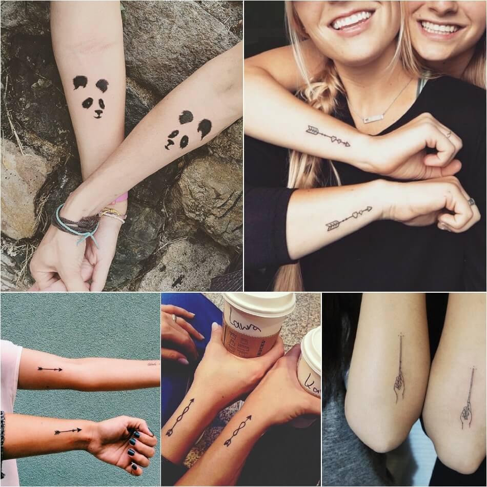 Тату для друзей - Тату для лучших друзей - Одинаковые тату