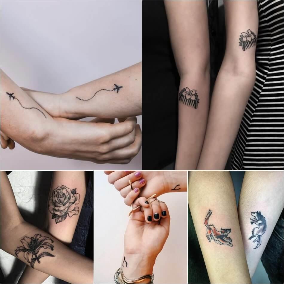 Тату для друзей - Тату для лучших друзей - Тематические тату