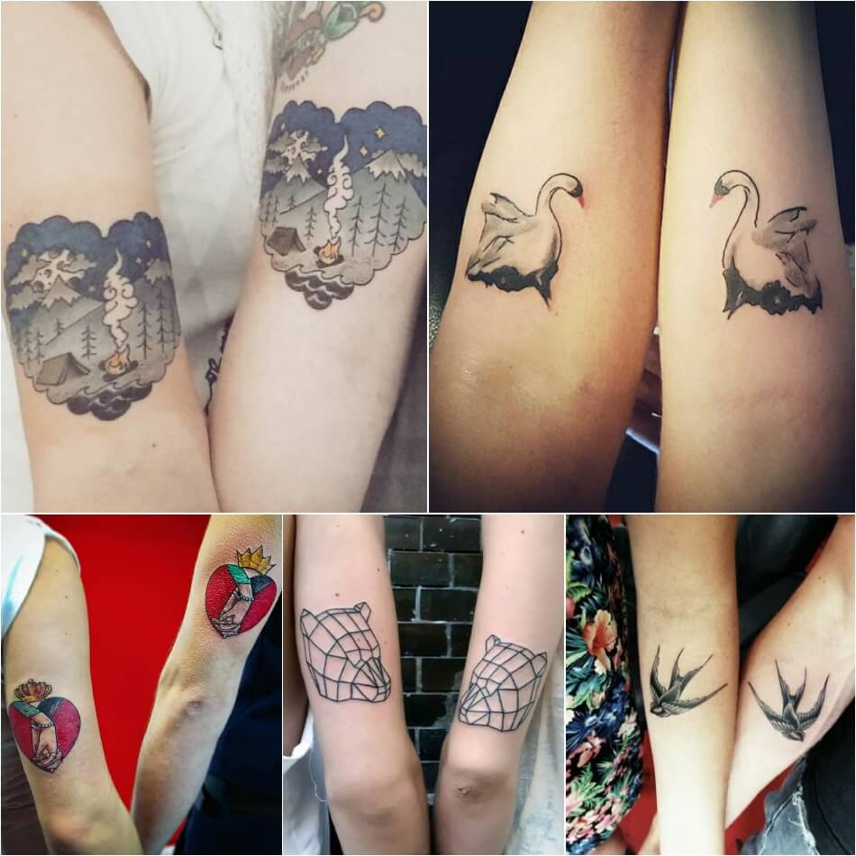 Тату для двоих - Одинаковые тату - Одинаковые тату для влюбленных
