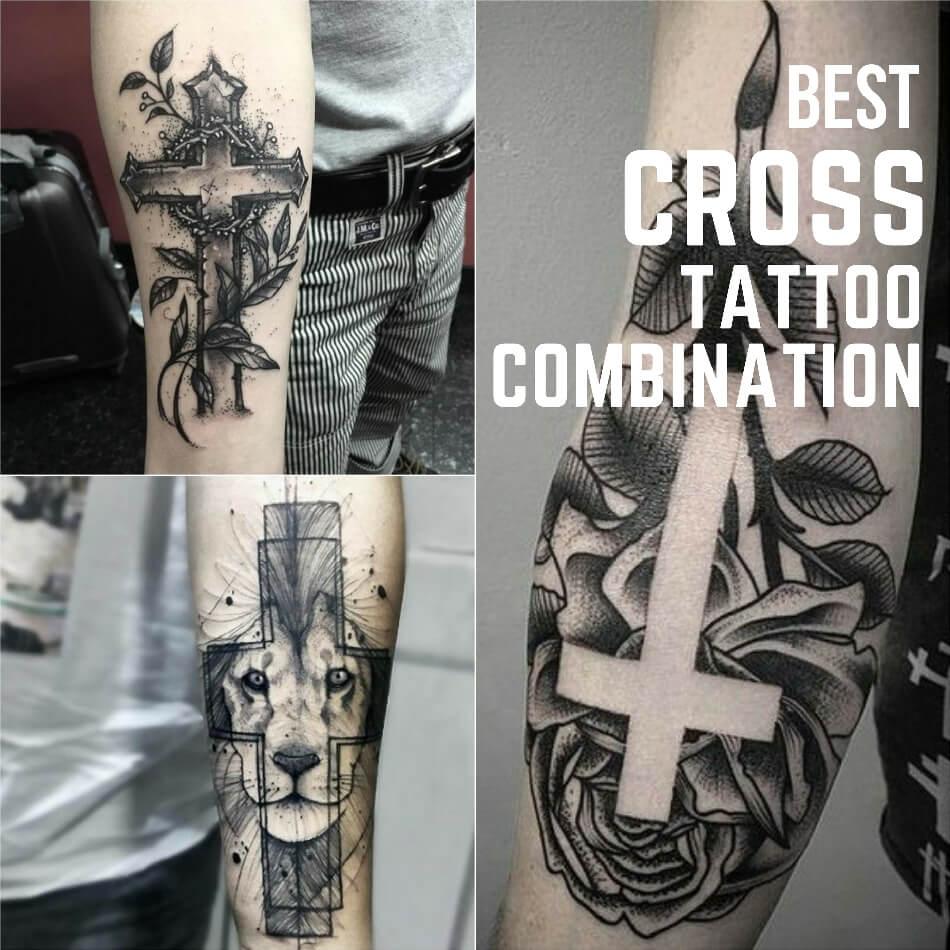 Тату крест - Популярные сочетания креста - Крест и другие рисунки