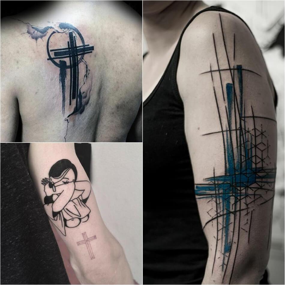 Тату крест - Тату крест для мужчины - Тату крест мужские