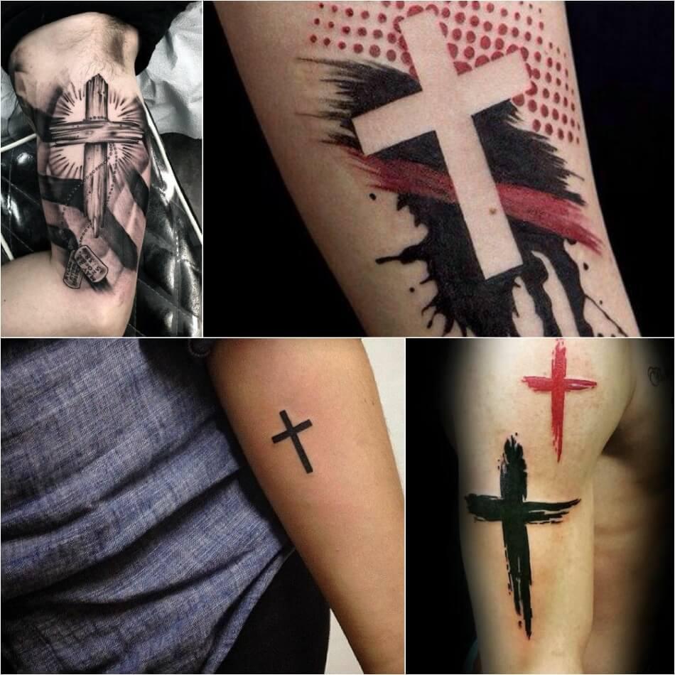 Тату крест - Тату крест идеи и значения - Тату католический крест