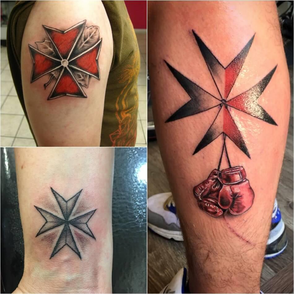 Тату крест - Тату крест идеи и значения - тату мальтийский крест