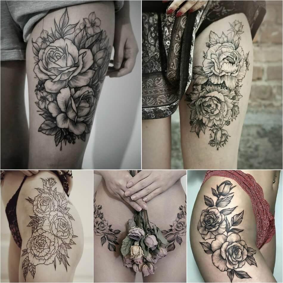 Тату роза - Тату роза для девушек - Тату роза женская