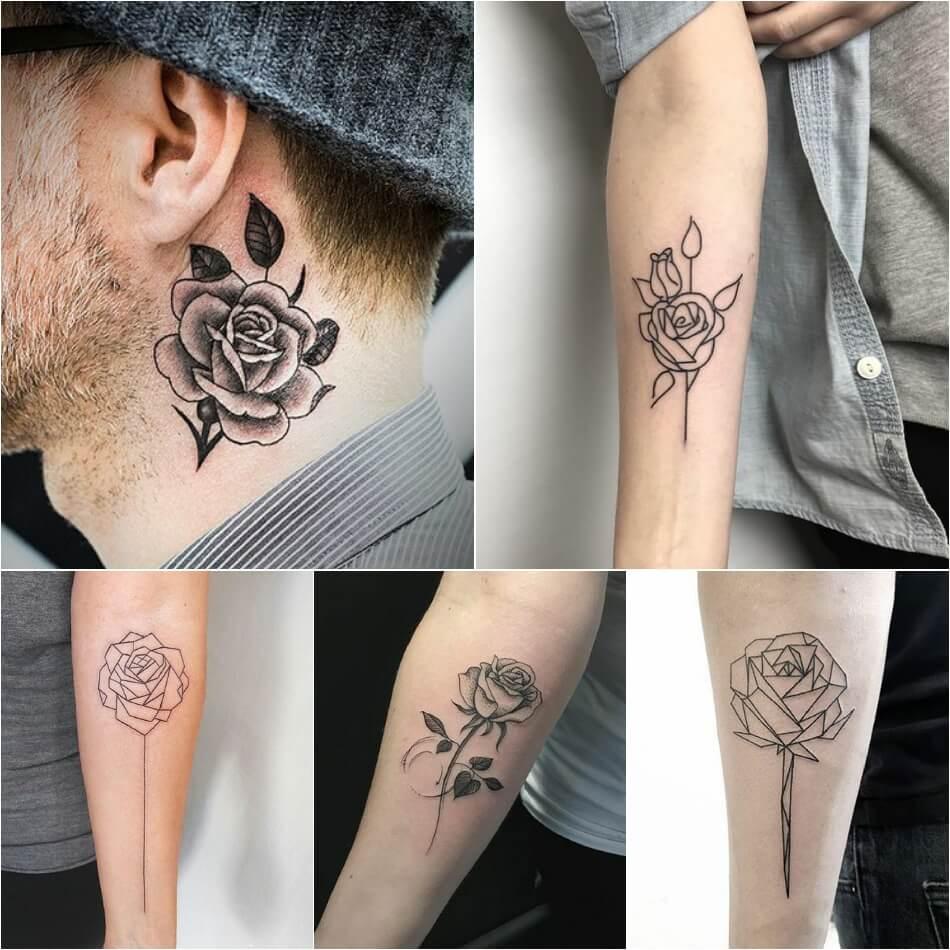 Тату роза - Тату роза значение - Тату роза без шипов - Тату роза без шипов значение