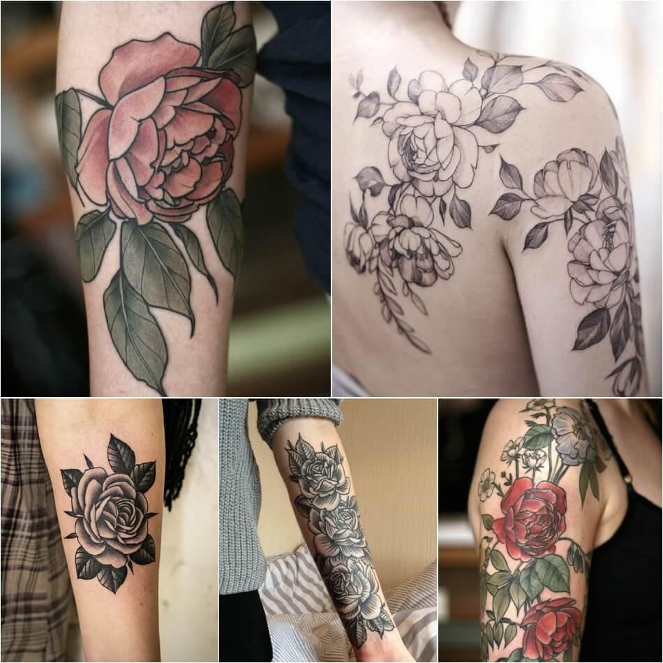 Тату роза - Тату роза значение - Тату роза с листьями
