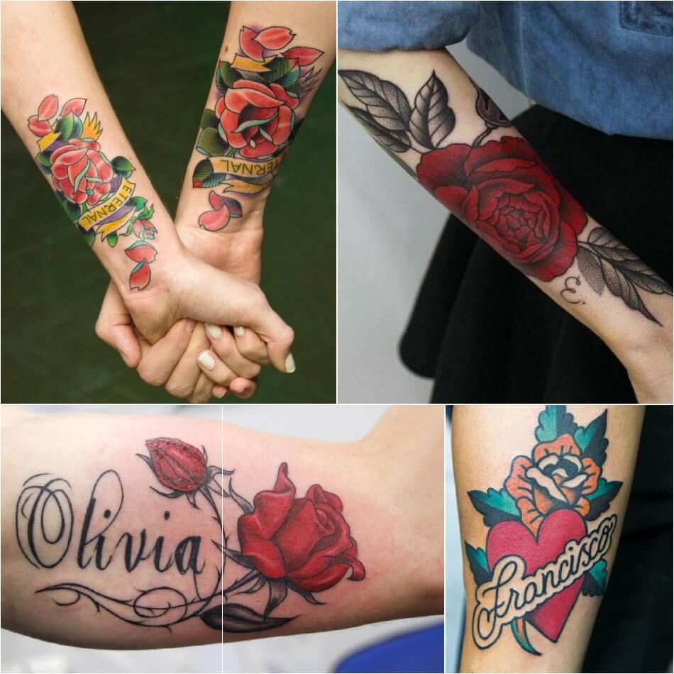 Тату роза - Тату роза значение - Тату роза с надписью
