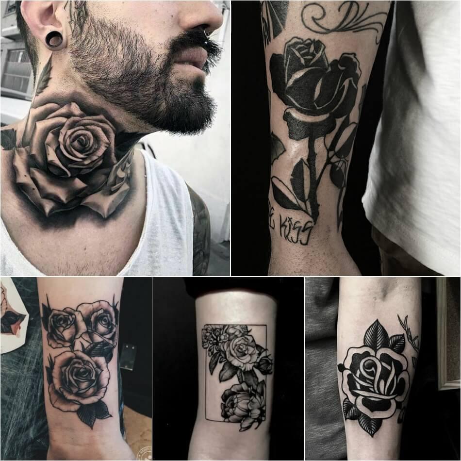 Тату роза - Тату роза значение цвета - Тату черная роза