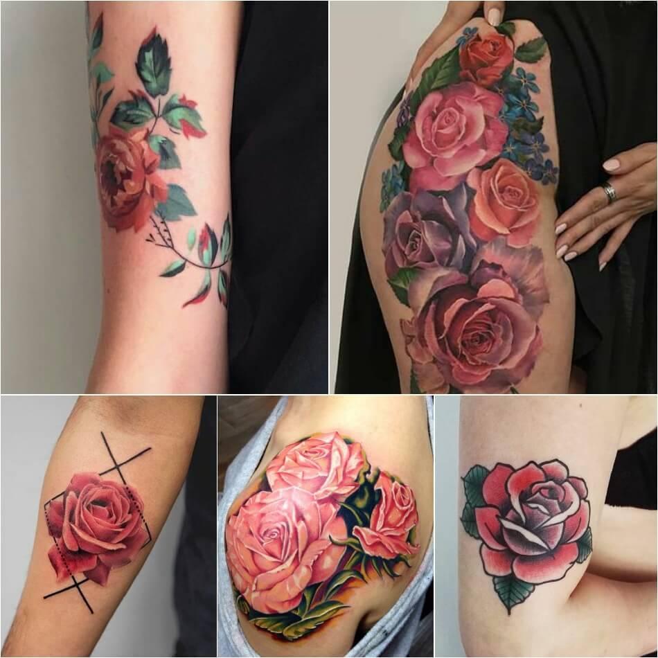 Тату роза - Тату роза значение цвета - Тату розовая роза