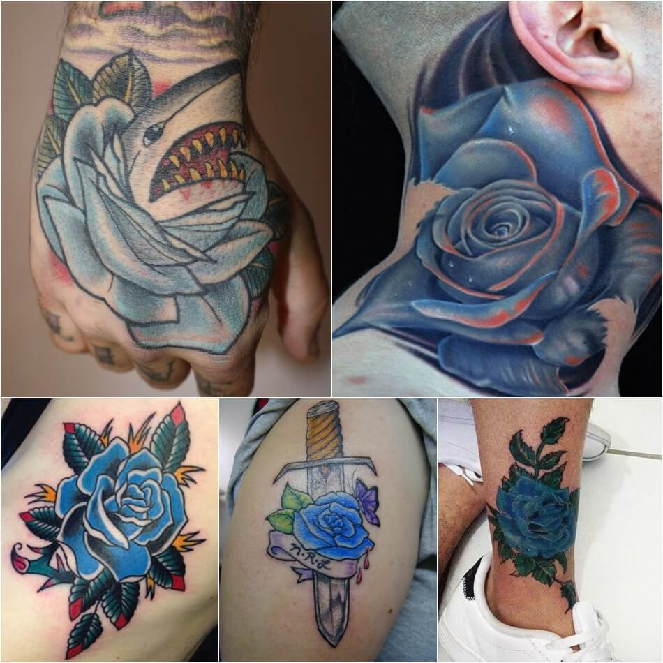 Тату роза - Тату роза значение цвета - Тату синяя роза