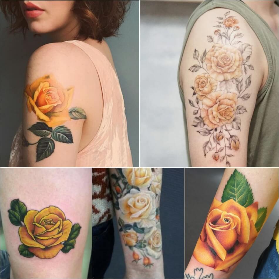 Тату роза - Тату роза значение цвета - Тату желтая роза