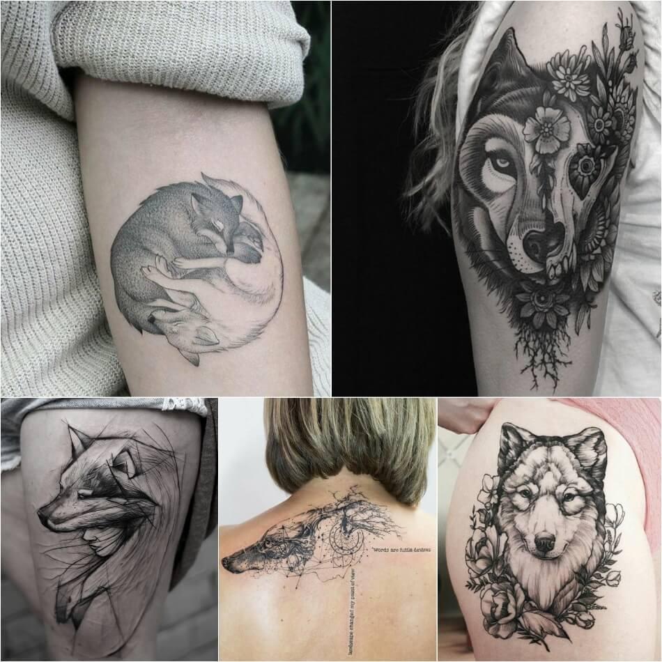 Тату волк - Тату волк для девушек - тату волк значение и эскизы