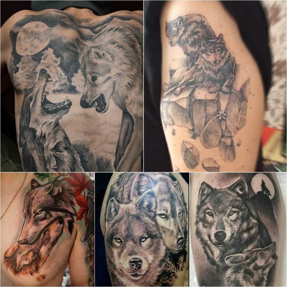 Тату волк - Тонкости тату с волком - Тату волк и волчица