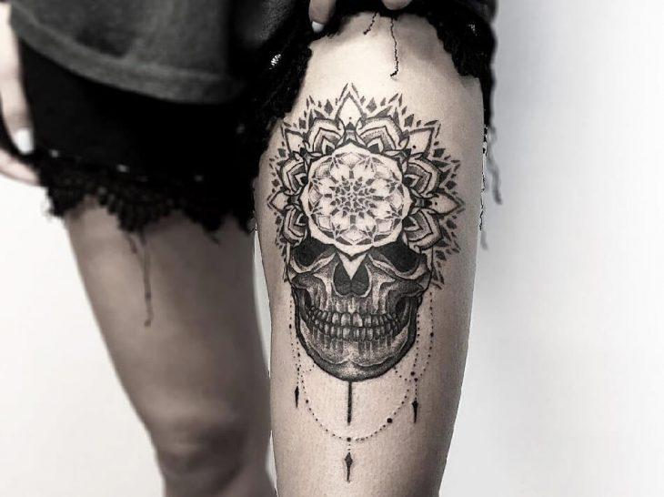 Тату череп - Значение тату череп - Татуировка череп