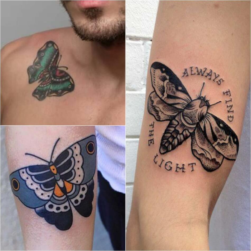 Тату бабочка - Мужские тату с бабочкой