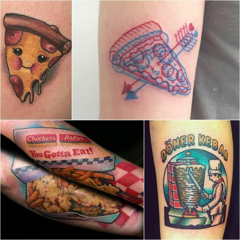 Тату Фастфуд - Идеи Тату для любителей Пиццы и Бургеров