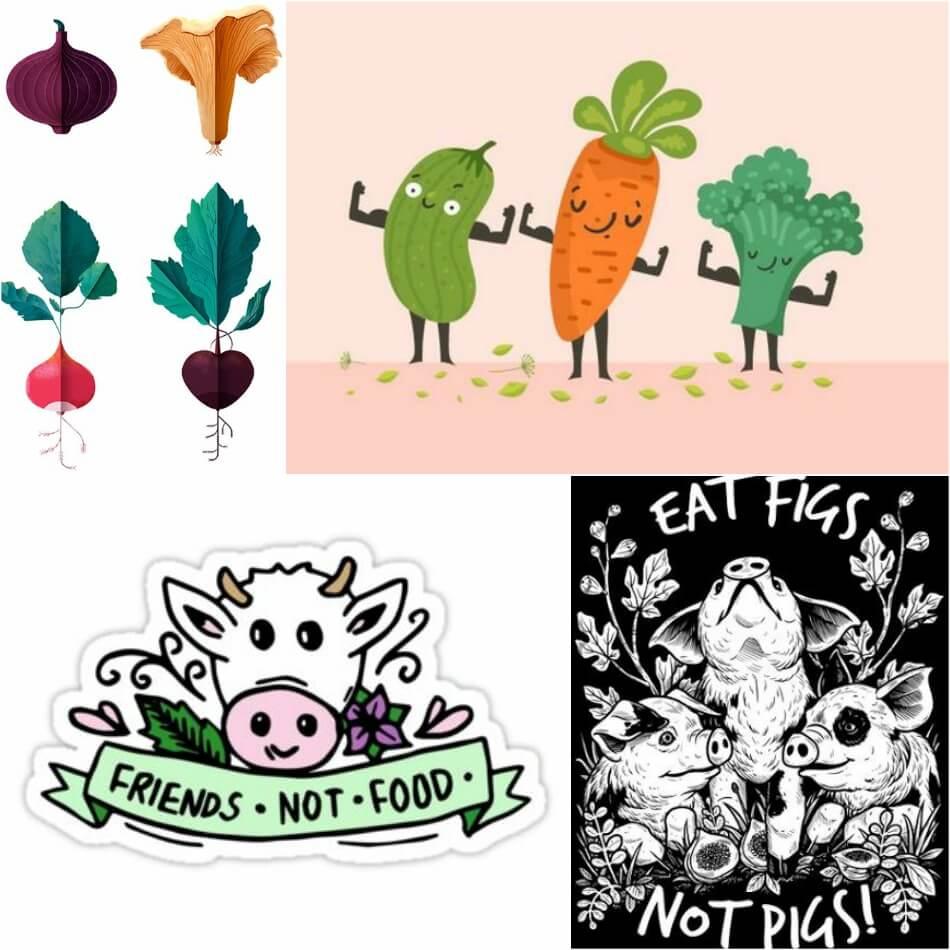 Тату для Вегетарианцев - Эскизы Веган -Тату - Тату для вегетарианцев эскизы