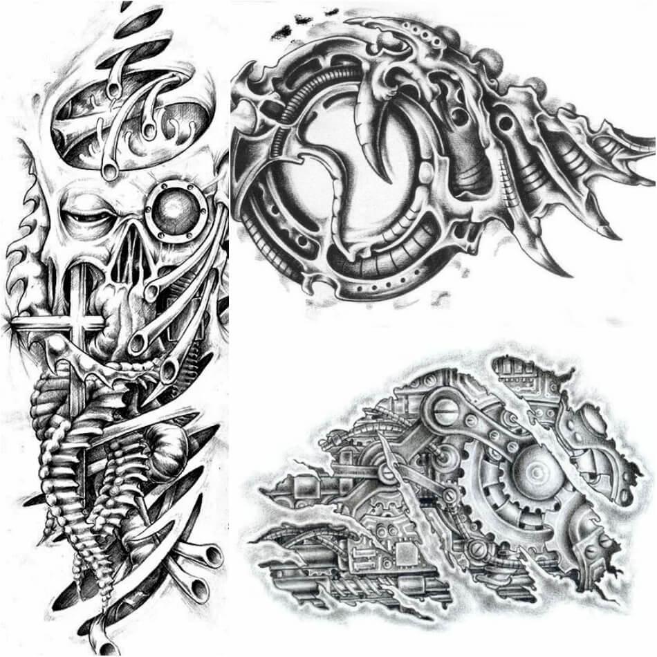 Тату Биомеханика - Татуировка киберпанк - Татуировка биомеханика - Тату биомеханика эскизы
