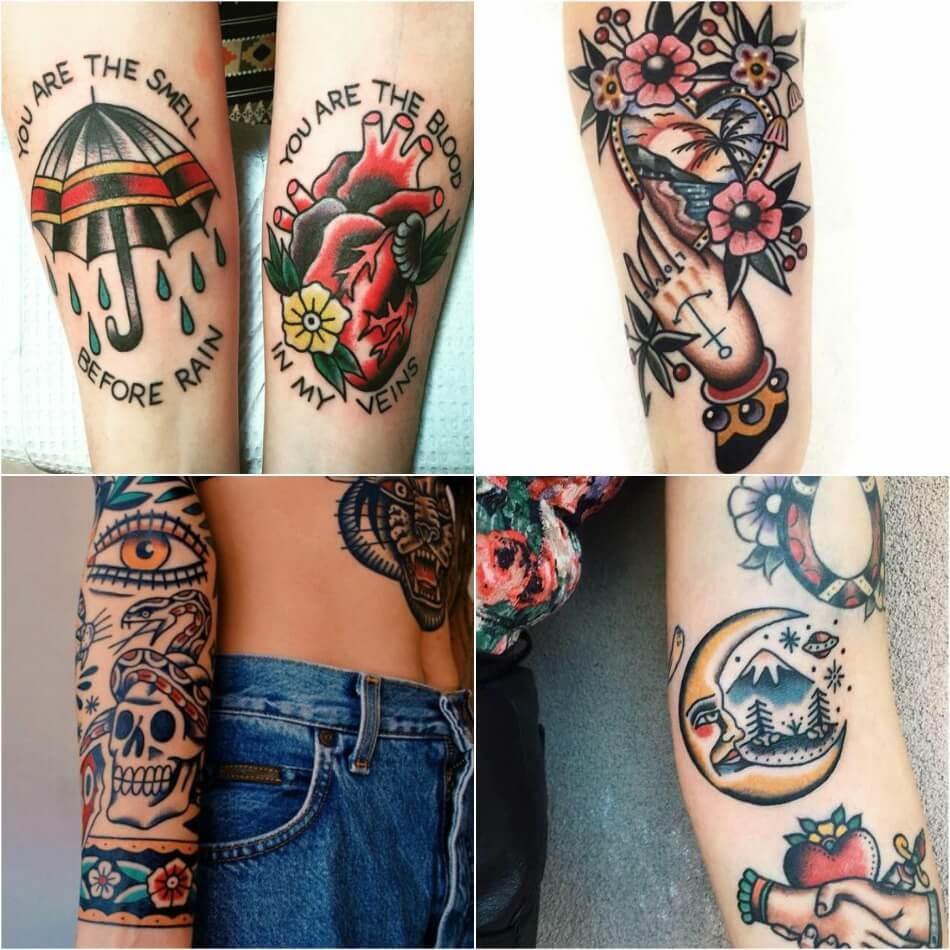 Тату олдскул - Татуировка олдскул - Тату стиль олдскул - Тату олдскул на руке