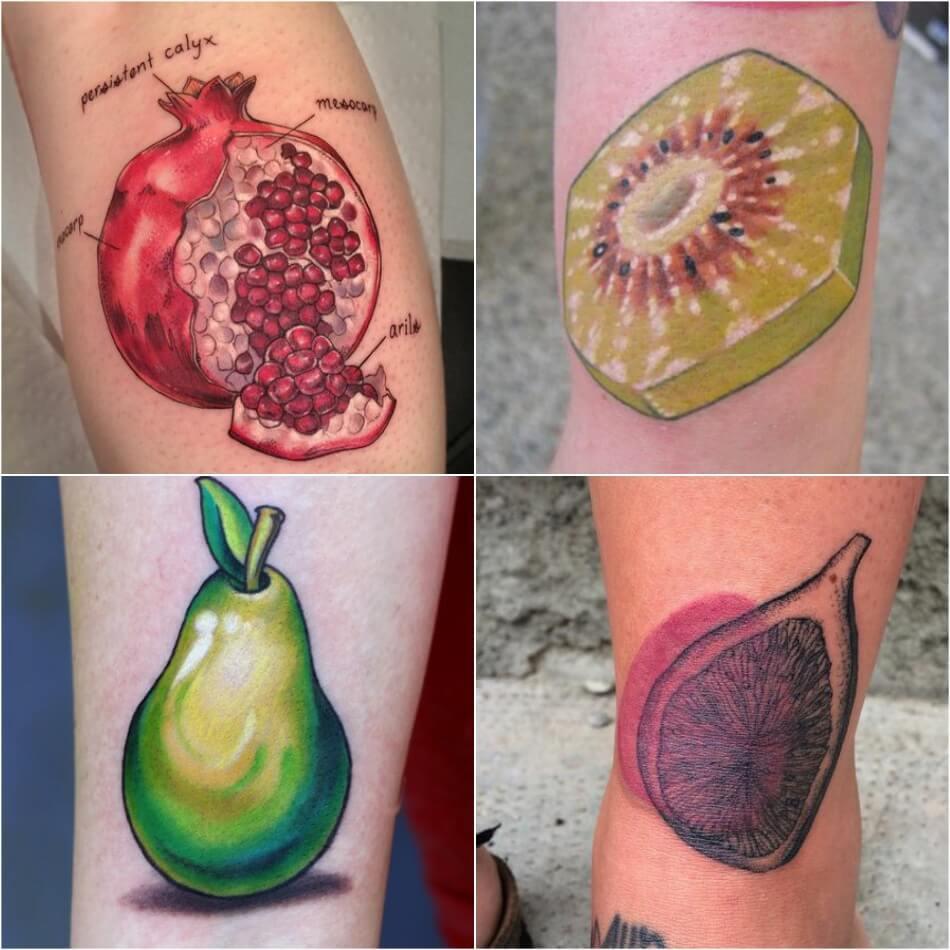 Тату фрукты - Татуировка фрукты - Тату фрукты значение - Тату фрукт