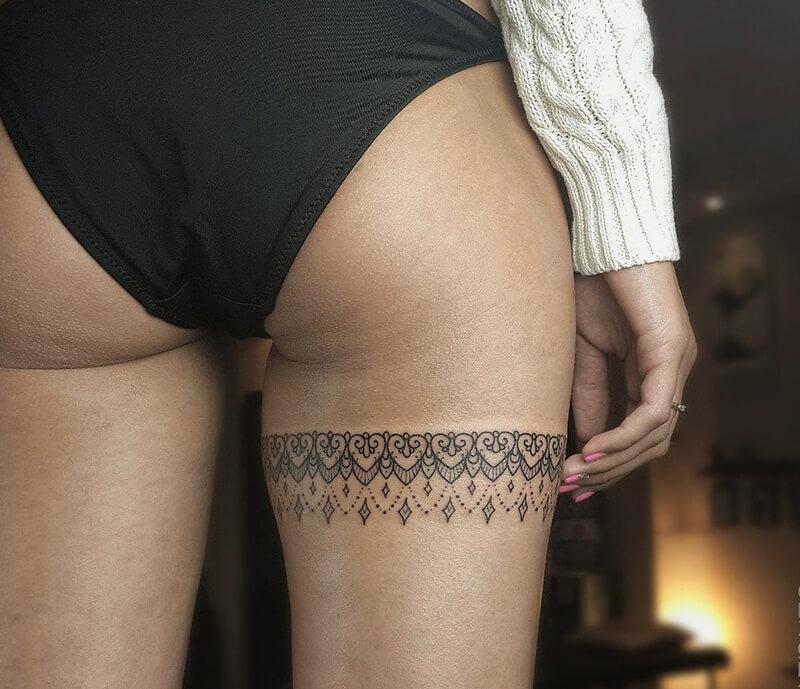 Тату на ноге - Татуировка на ноге - Тату на бедре - Татуировка на бедре