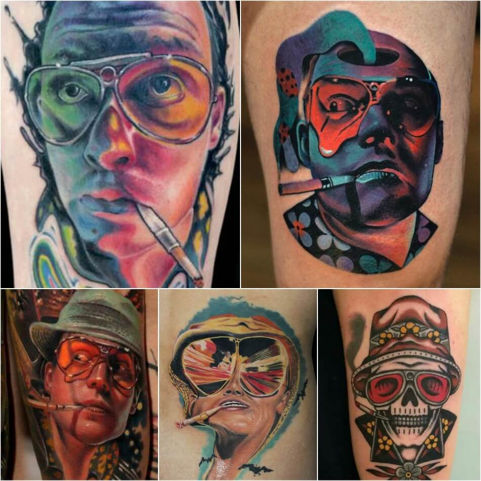 Тату с Героями Кино - Идеи Татуировок для Любителей Кино - Тату Страх и ненависть в Лас-Вегасе