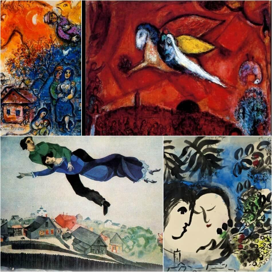 Тату по мотивам картин - Тату живопись - Тату шедевры живописи - Идеи тату Шагал