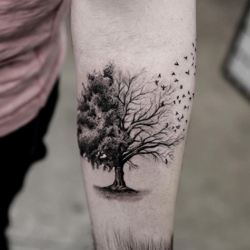 Тату дерево - Татуировка дерево - Тату с деревом - Тату дерево значение